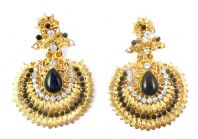 Large Bollywood Style Drop Earrings.